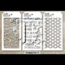 MTHS017 Stampers Anonymous Tim Holtz Layering Stencil - Mini Stencil Set #17